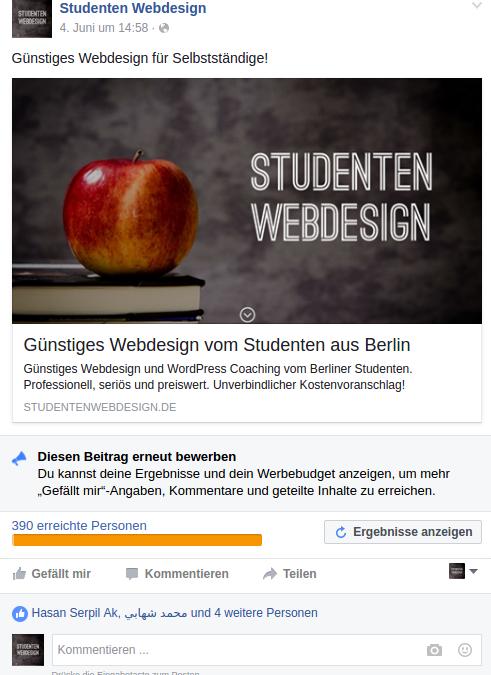 Facebook Marketing Test